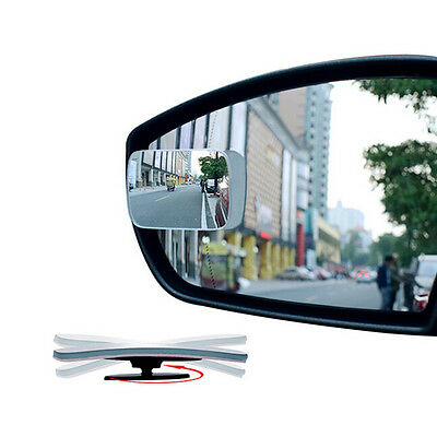 1x Universal Auto Car 360° Wide Angle Convex Rear Side View Blind Spot Mirror NG