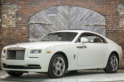 2016 Rolls-Royce Other Wraith English White Seashell Black Only 978 Miles 16 RR 624 hp Turbo V12 Driver Assistance $14k Starlight Headliner Polished Rims