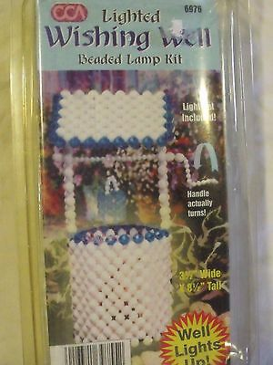 New/sealed-Cca Kit Makes A Beaded Wishing Well Lamp # 6976