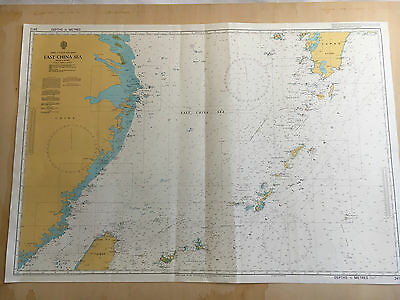 Large Admiralty Chart Office Map of East China Sea Japan T'ai-wan Naval Map 1994