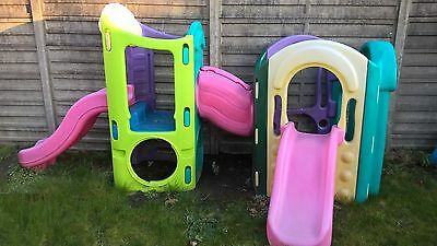 Little Tikes 8 in 1 climbing frame with slides.