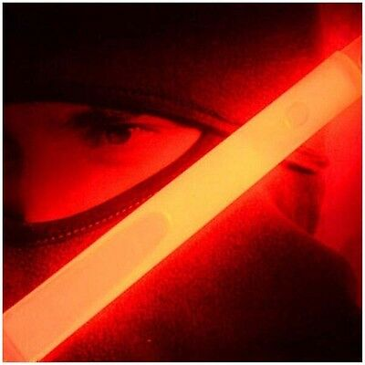 Glow Sticks Party Camping Emergency Surival Lights GlowStick Red E8A3