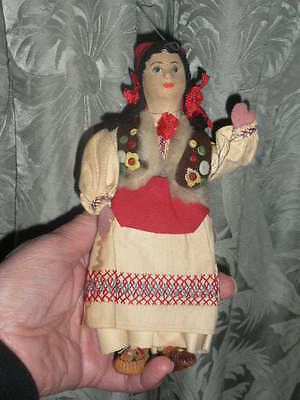 Vintage Stockinette Doll, Russian, Eastern European Traditional Costume