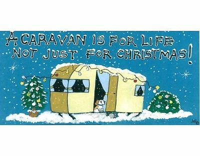 A Caravan Is For Life Not Just For Christmas Sign