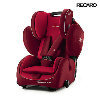 2016 Recaro Germany Young Sport Hero Indy Red Child Seat (9-36 kg) (19-79 lbs)