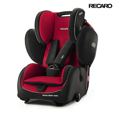 RECARO Germany Young Sport Hero Racing Red Child Seat (9-36 kg) (19-79 lbs)