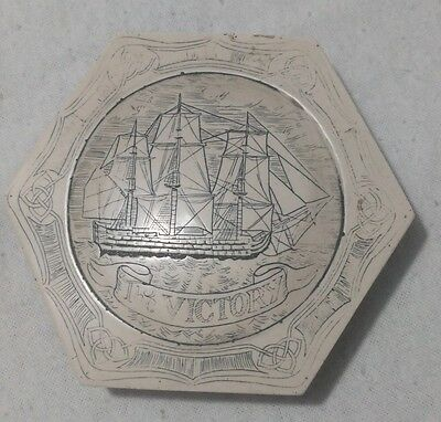 Vintage hand carved ship map weight