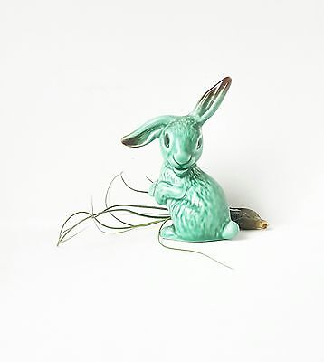 Vintage Retro Art Deco Original Sylvac Bunny Rabbit green
