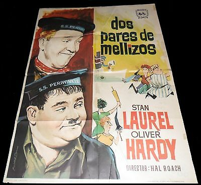 1936 Our Relations ORIGINAL SPAIN POSTER Stan LAUREL Oliver HARDY  Harry Lachman