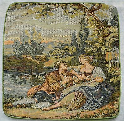 """15""""x15"""" Vintage  Woven Tapestry Cushion Cover In Fine Details  T-77"""