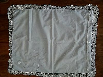 Antique Boudoir Pillow Cover Lace Monogrammed