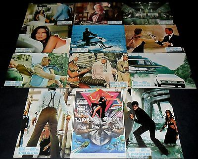 1977 The Spy Who Loved Me ORIGINAL LOBBY CARD SET James Bond 007 Roger Moore