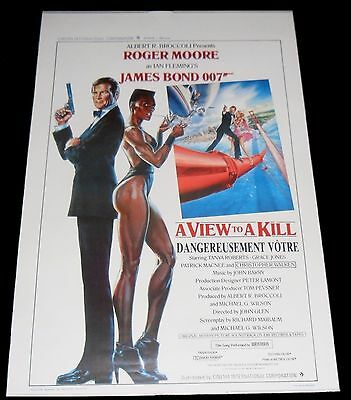 1985 A View to a Kill ORIGINAL BELGIAN POSTER James Bond 007 Roger Moore