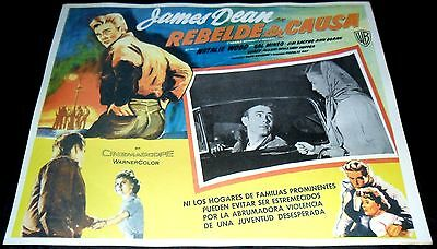 1955 Rebel Without a Cause VINTAGE MEXICAN LOBBY CARD James Dean Natalie Wood a