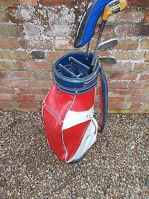 Spalding Golf Bag With 4 Clubs