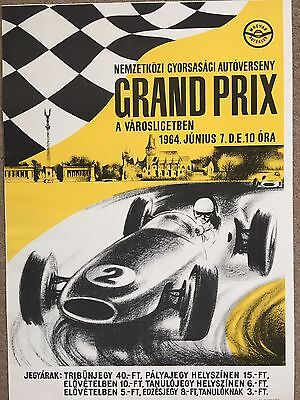 Original 1964 Hungarian Grand Prix Poster