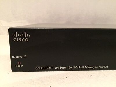 Cisco SF300-24P 24-Port Managed PoE Fast Ethernet Switch