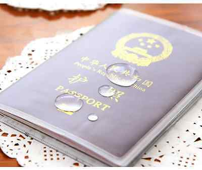 Passport Cover Holder Case Organizer  Clear Transparent ID Card Travel Protector