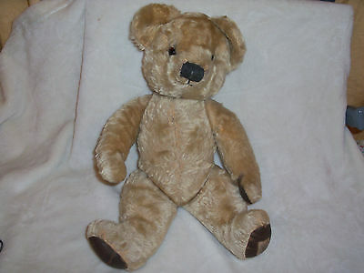 Vintage 1950s/60's Chad Valley Jointed Teddy Bear - Mohair - Non Working Growler