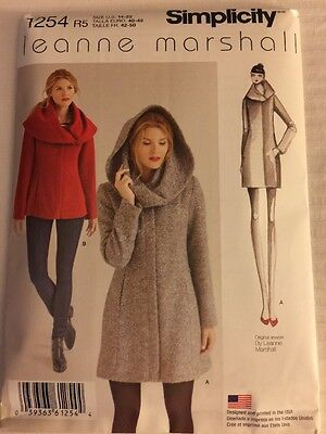 Simplicity Sewing Pattern 1254 Leanne Marshall Coat Jacket Sizes 14-22 New