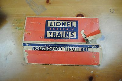 Lionel 675 2-6-2 Locomotive Box Only