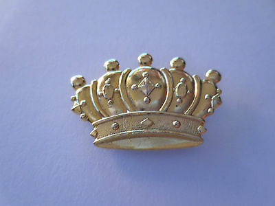 Metal Golden Crown Pin Badge, King Queen Royal Family Monarchy, #6