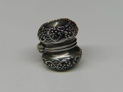 Antique Sterling Silver Thimble Holder
