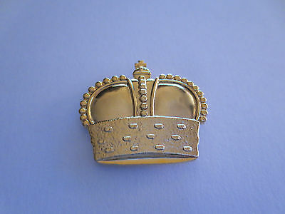 Metal Golden Crown Pin Badge, King Queen Royal Family Monarchy, #8