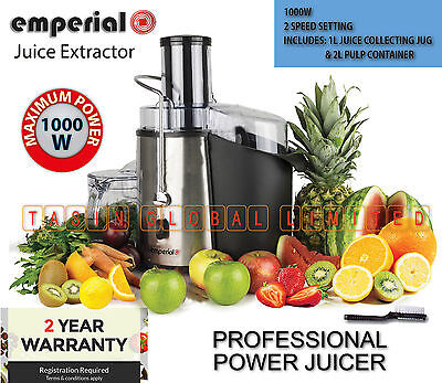 1000W Professional Juice Extractor Whole Fruit Power Juicer Vegetable EMPERIAL
