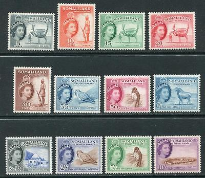 Somaliland: 1953 QE2 set of 12 stamps to 10/- SG137-148 LMM/MM NN135