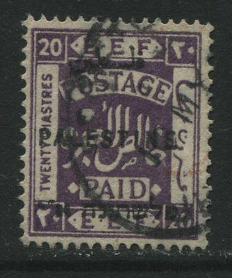 Palestine: 1922 EEF 20 piastres stamp - bright violet Perf 15x14 SG89 Used ZZ062
