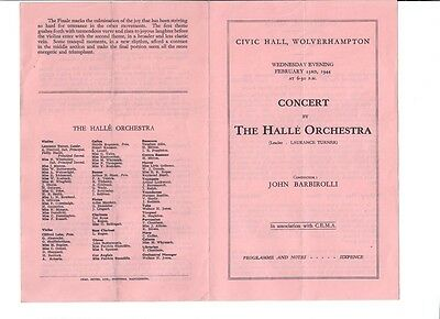 Concert by The Halle Orchestra at Wolverhampton Civic Hall - 23/02/1944