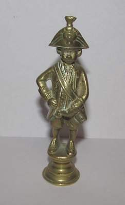 Vintage solid brass Naval Seaman pipe figure