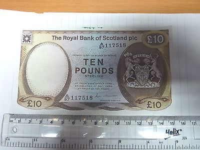 £10 Note From Royal Bank Of Scotland - Unusual With The Royal Coat  - Unused