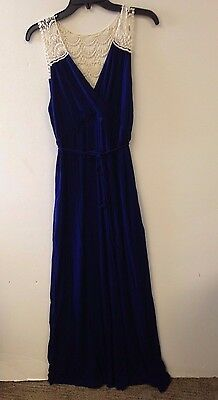 **NEW** MOTHERHOOD MATERNITY Women's Maxi Dress, Size PXL, Blue