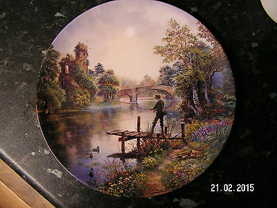 rare danbury mint collector plate called fly fishing.