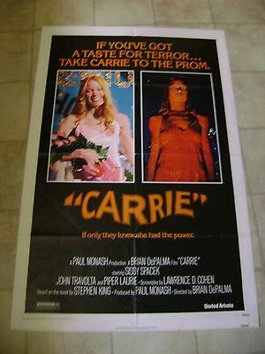 Carrie 1976 Original USA One Sheet Movie Poster