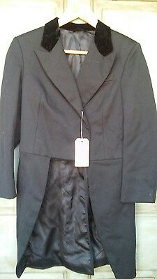 Black Shadbelly Coat English Hunt Equestrian 12R Tailcoat Steampunk Cosplay