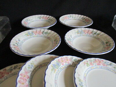 Staffordshire Tableware CHERRY ORCHARD Bowls and side plates x 4