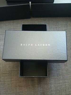New Ralph Lauren Sunglasses Storage Gift EMPTY Box  Navy Blue