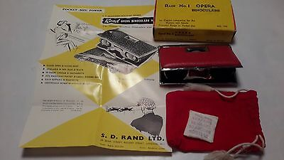 Vintage Rand No 1 Opera Binoculars, Box and Case With Instructions Included