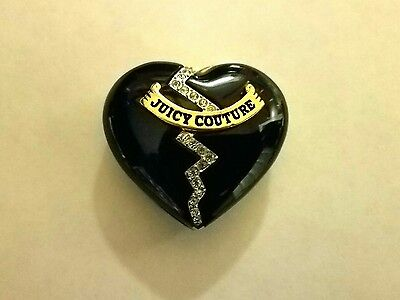 Estate Find!  Vintage Juicy Couture Black Locket Heart!  Free Gift w/Purchase!