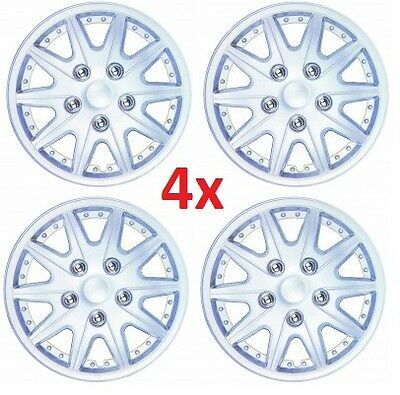 """13"""" Wheel Cover Set Wheel Cup 13 Inch Wheel Trim Set of 4 Silver Hub Caps Covers"""