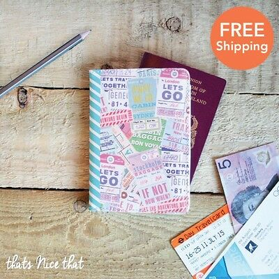 Passport Holder Map Luggage Travel ID Document Tickets Holiday UK Case Gift Fun