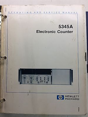 HP 5345A Electronic Counter Operating & Service Manual P/N 05345-90047