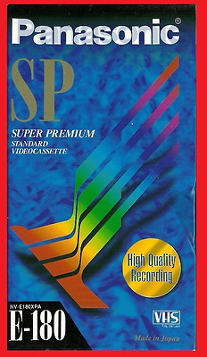 Set of 3 New & Sealed Panasonic SP Blank VHS E-180 Tapes