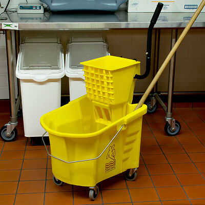 Mop Bucket With Wringer, 35 Quart