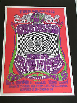 THE GRATEFUL DEAD Rock CONCERT POSTER by BOB MASSE