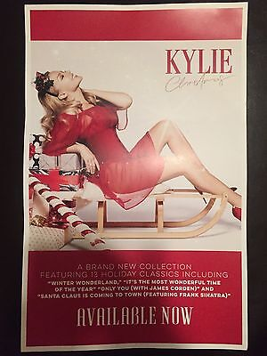 Kylie Minogue Kylie Christmas Rare 11X17 Inches Official Us Promo Poster