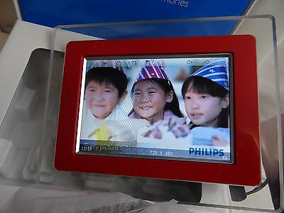 """Philips 7"""" LCD Digital Photo Frame 7FF1M4 Boxed With Instructions Tested Works"""